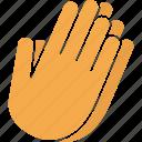 asian, hands, pray, prayer, praying, worship, yellow icon