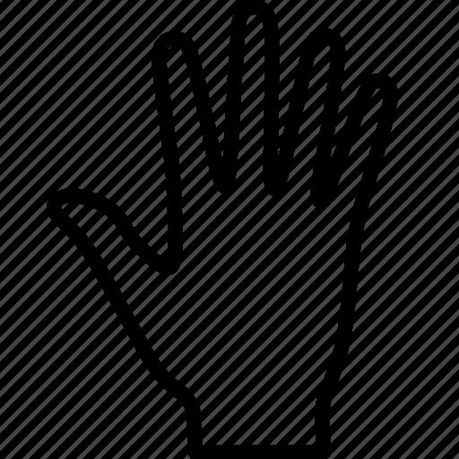 fingers, gesture, hand, human, palm, prehensile, raised icon