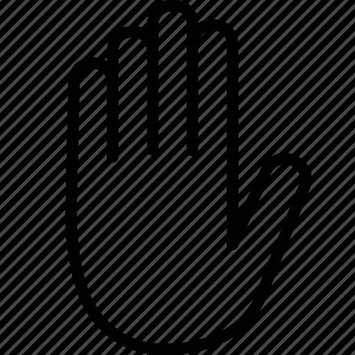 adblock, block, halt, hand, palm, sign, stop icon