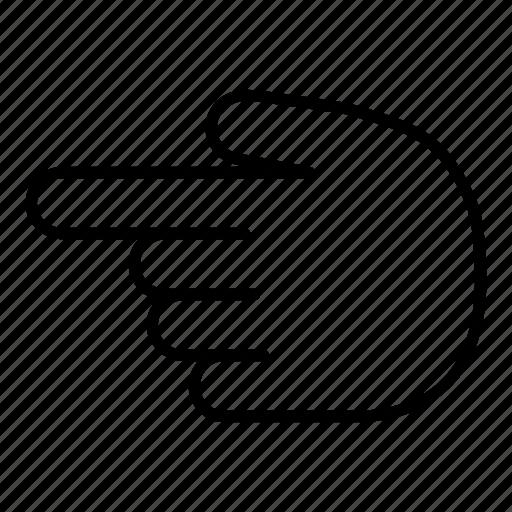 finger, gesture, hand, left, point, point left, pointer icon