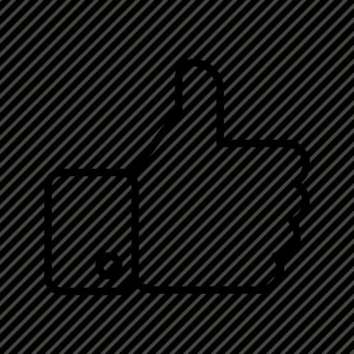 favorite, like, liked, social like, thumbs up, web icon