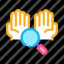 hands, hygiene, magnifier, research