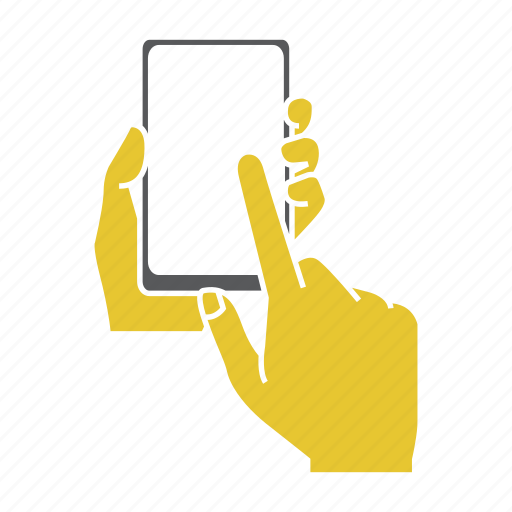 finger, hand, hold, mobile, screen, smartphone, touch icon