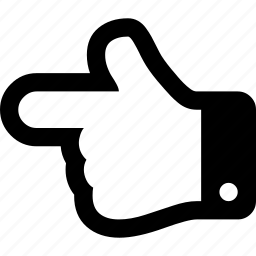 hand, left, point icon