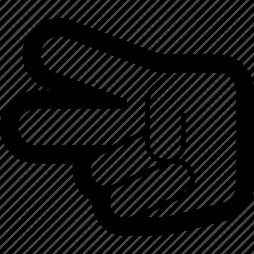 hand, scissors icon