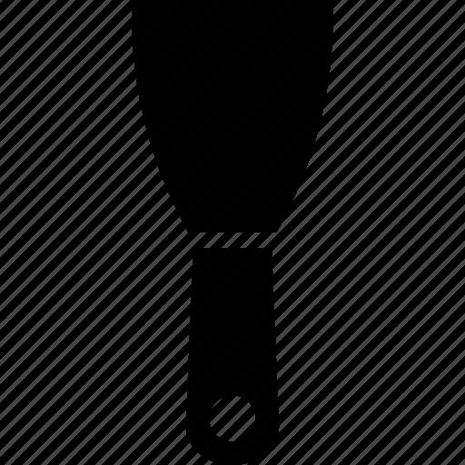hand, scraper, solid, tool icon