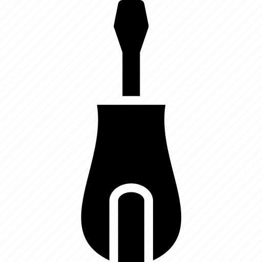 hand, head, screwdriver, small, solid, tool icon