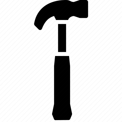 hammer, hand, solid, tool icon