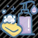 clean, hand, protect, shampoo, soap, wash, washing icon