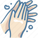 cleaning, covid19, hand, hands, plams, wash, washing icon