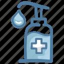 alcohol, bottle, gel, hand, soap, wash, washing icon