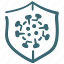 antivirus, bacteria, coronavirus, covid19, microbe, protected, virus icon