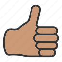fingers, hand, thumbs up icon