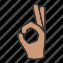 fingers, hand, ok icon