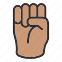 fingers, fist, hand icon