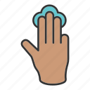 click, fingers, hand, touch icon