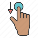 click, fingers, hand, swipe, touch icon