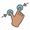 fingers, hand, swipe, touch icon