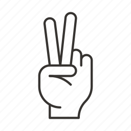 fingers, gesture, gestures, hand, hands, peace, victory icon