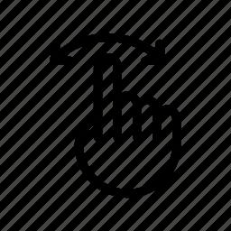 arrow, direction, hand, left, move, right, swipe icon