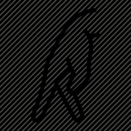 finger, fingers, gait, gesture, hand, walk, walking icon