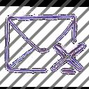 cover, cross, delete, mail icon