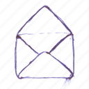 mail, open, opened, readed icon