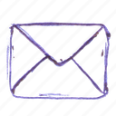 closed, mail icon