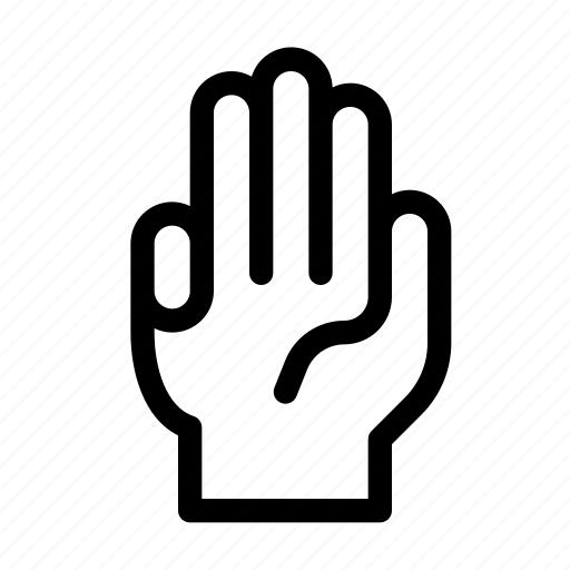 finger, four, gesture, gun, hand, interaction, respect icon
