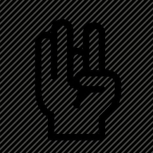 finger, gesture, hand, rock, rocker, three icon