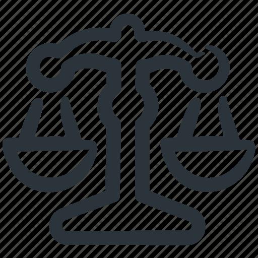balance scale, fair, fair trade, justice, justice scale, law, scale icon