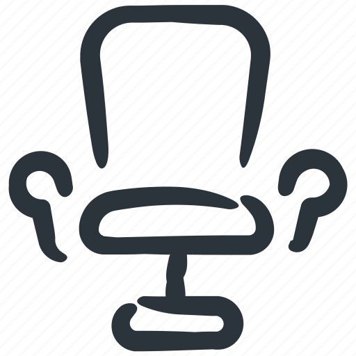 chair, desk chair, office, office chair, office equipment, seat, swivel chair icon