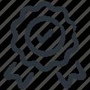 achievement, best, medal, premium, quality, top, verified icon
