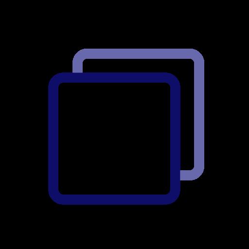 board, layer, overlay, paper, rectangle, square icon