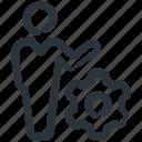 employee, management, manager, optimization, productivity, worker icon