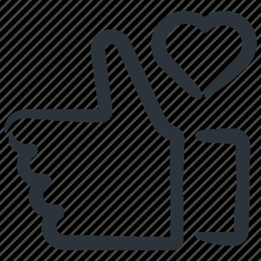 feedback, heart, like, liked, positive feedback icon