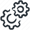 cog, cogs, gear, gear wheels, gears, preferences, settings icon