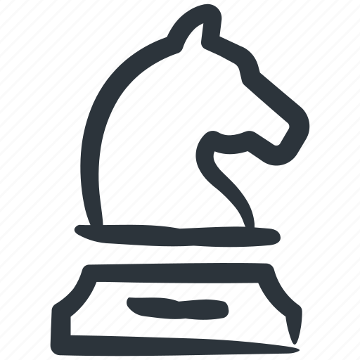 business strategy, chess, horse, knight, strategy icon