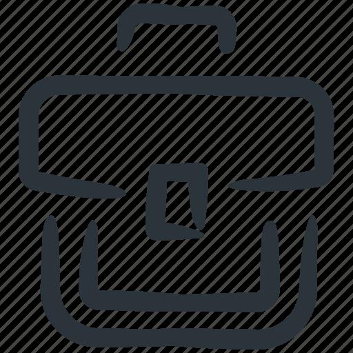 briefcase, business case, business suitcase, luggage, portfolio, portfolio case, suitcase icon