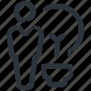 bulb idea, innovation, idea, business idea, innovative, businessman, bulb icon