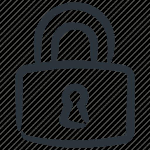 lock, locked, password, protect icon