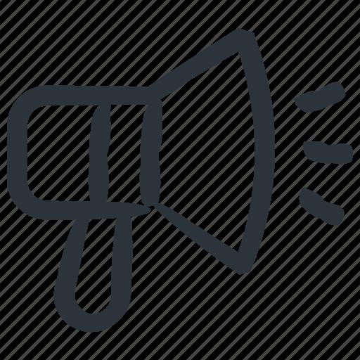 bullhorn, marketing, megaphone icon