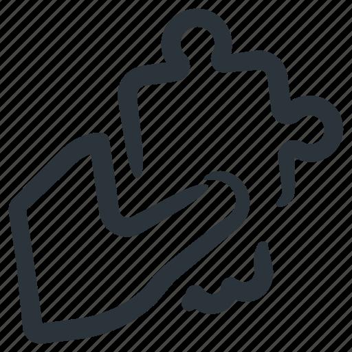 integration, puzzle, puzzle piece, solution icon