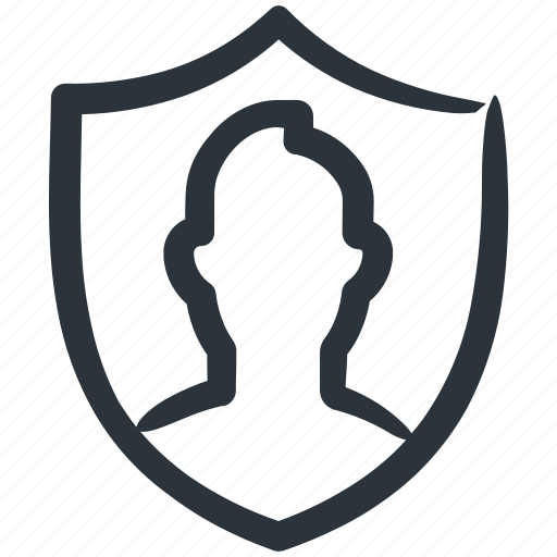 insurance, protect, security, shield, user icon