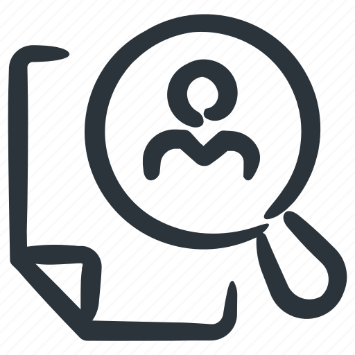 cv, prospecting, resume, user info icon