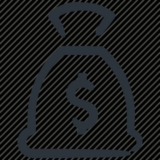 cash, money, money bag, money sack, savings icon
