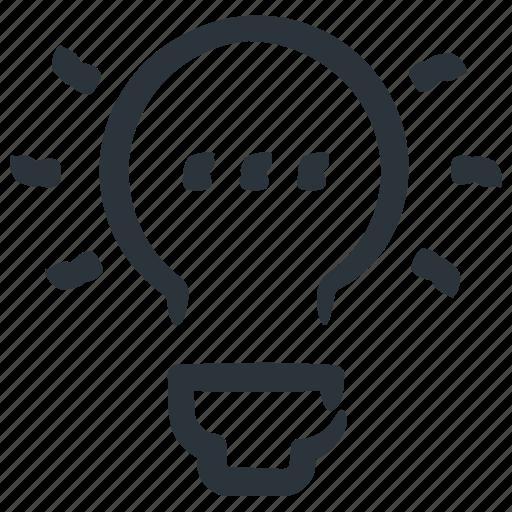 bulb, business idea, idea, innovation icon