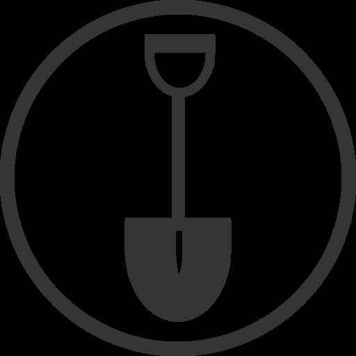 construction, diy, gardening, shovel, spade, tool icon