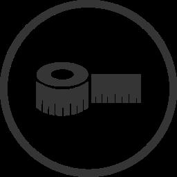 building, construction, diy, equipment, measuring tape, tool icon