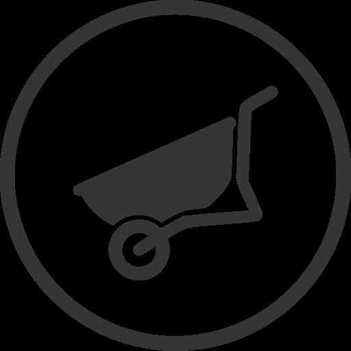 barrow, building, diy, equipment, tool, wheelbarrow icon